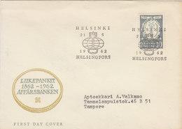 FINLAND 1962 FDC Affärsbanken.BARGAIN.!! - Finlande