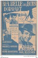 """Partition . """" Ma Belle Au Bois Dormant  """" . Fox Serenade .  Paroles De Maurice Vander . - Partitions Musicales Anciennes"""