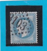 N° 29 B    GC  3103   REIMS  /  49 MARNE  - REF DIVAC + Variété - 1863-1870 Napoleon III With Laurels