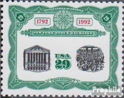 USA 2218 (kompl.Ausg.) Postfrisch 1992 200 Jahre Börse - Vereinigte Staaten