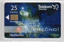 Telekom Slovenije 25 Imp. - SREČNO 2002 - Slovénie