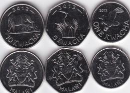 Malawi - Set 3 Coins 1 5 10 Kwacha 2012 - 2015 UNC Lemberg-Zp - Malawi