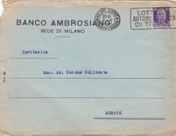 BUSTA VIAGGIATA - MILANO - BANCO AMBROSIANO - VIAGGIATA PER MERATE ( LECCO) - Storia Postale