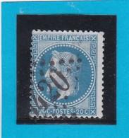 N° 29 A    GC  3420  SOISSONS  /  02 AISNE  - REF DIVAC + Variété - 1863-1870 Napoleon III With Laurels