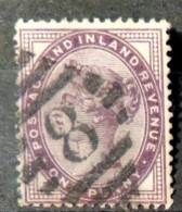 Great Britain 1881 QV 1d Lilac 16 Dots Barred Numeral Cancel 8 (ALNWICK) Used SG172 GB - 1840-1901 (Victoria)