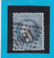 N° 29 B    GC  3981  TOULON-sur-MER  /  78 VAR  - REF DIVAC - 1863-1870 Napoleon III With Laurels