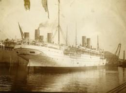 France Le Havre Paquebot CGT Guadeloupe Ancienne Photo Amateur 1910 - Plaatsen