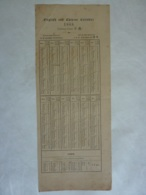 ALMANACH  CALENDRIER 1888  Recto Verso English And Chinese Calendar  51st & 52nd Years Of H.M QUEEN VICTORIA  Chem 3-32 - Calendriers