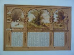 ALMANACH 1880  CALENDRIER CHROMO LITHOGRAPHIE  ALLEGORIE CAMPAGNE  Paysage  Statues Sur Pont   Hem 3-37 - Calendriers
