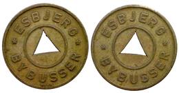 05468 GETTONE TOKEN JETON DENMARK TRASPORTO TRAM BUS ESBJERG BY BUSSER - Jetons & Médailles
