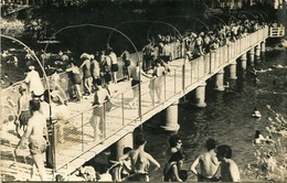PASARELA SOBRE RIO SALADO, PARTIDO GENERAL BELGRANO, PROV. DE BUENOS AIRES, ARGENTINA. AÑOS 1966 POSTAL RARISIME - LILHU - Argentine