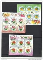 O) 2012 KOREA, FLOWERS - ROSE -ROSAS, INSECT -BEES, CROSS-POLLINATION, BUTTERFLIES, SET MNH - Korea (...-1945)