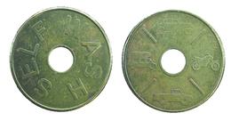 02101 GETTONE TOKEN JETON SWISSE AUTOLAVAGGIO CAR WASH SELF WASH HOLED - Jetons & Médailles