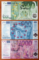 Germany Set Of Eros 300, 600, 1000 UNC - [17] Falsi & Campioni