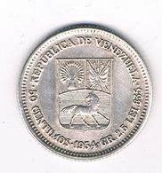 50 CENTIMOS  1954  VENEZUELA /2471// - Venezuela