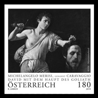 Austria 2019 Mih. 3451 David With The Head Of Goliath. Painting By Caravaggio (black Proof) MNH ** - 1945-.... 2ème République