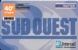 CARTE-PREPAYEE-40F-INTERCALL-CALLTROTTER-SUD OUEST-Exp 31/12/2001- TBE-RARE - Autres Prépayées