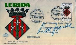 1964 , CERTIFICADO CIRCULADO A GUADALAJARA , DEVUELTO POR DESCONOCIDO , CARTERIA - 1961-70 Storia Postale