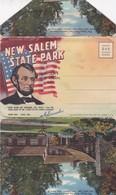 NEW SALEM STATE PARK LINCOLN'S NEW SALEM ILL. CURT TEICH & CO. AN 1965 PHOTOSET SOUVENIR LEMBRANÇA - BLEUP - Etats-Unis
