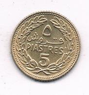 5 PIASTRES 1970 LIBANON /2477/ - Liban