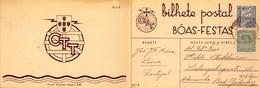1936 , PORTUGAL , ENTERO POSTAL CIRCULADO , LEIRIA - BAD GODESBERG , GREGORIO LOPES , NAVIDAD - Enteros Postales