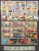Ajman Small Lot 42 Stamps, Scouts / Flag, Cars (Vauxhall, Fiat, Citroen, Mercedes, Peugeot) Churchill, Space, Used - Ajman