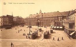 Liège - Palais De Justice Et Place Saint-Lambert (animée, Tram Tramway, Ed. Thill) - Liege