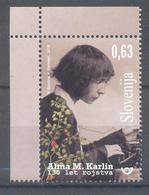 Slovenia Slowenien Slovenie 2019 Mint MNH **: Famous Persons: Alma Karlin Writer And World Traveler; Typewriter Flowers - Slovénie