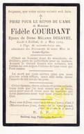 DP Im. Pieuse - Fidèle Courdant / Vancostenoble ° 1832 † Bailleul FR Nord 1905 X Melanie Degavre - Santini