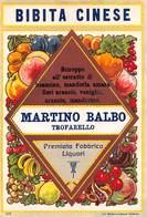 """07769 """"BIBITA CINESE - MARTINO BALBO - TROFARELLO"""" ETICH. ORIG. - Etichette"""
