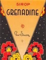 """07770 """"SIROP GRENADINE PUR SUCRE"""" ETICH. ORIG. - Etichette"""