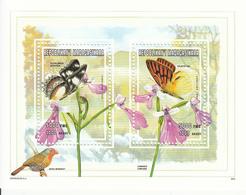 1998 Madagascar Malagasy Butterflies Papiillons   Souvenir Sheet MNH - Madagascar (1960-...)