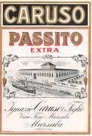 """07771 """"PASSITO EXTRA - IGNAZIO  CARUSO & FIGLIO - MARSALA"""" ETICH. ORIG. - Etichette"""