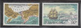 B2 - NORFOLK  214 / 215 ** De 1978 - James COOK Passe Le Cercle Polaire Arctique En Aout 1778 - RESOLUTION Et DISCOVERY- - Ile Norfolk