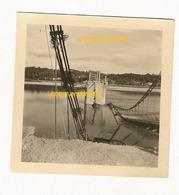 WW2 PHOTO ORIGINALE ALLEMANDE Pont Suspendu CHAUMONT SUR LOIRE ONZAIN P. Montrichard Entre Tours & Blois LOIR ET CHER 41 - 1939-45