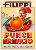 """07773 """"PUNCH ARANCIO - FILIPPI FAUSTO & C. - PADOVA"""" ETICH. ORIG. - Etichette"""