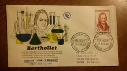 Premier Jour  FDC..   Bertholet .. 1958 .. TALLOIRES ... Chimiste - FDC