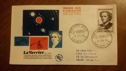 Premier Jour  FDC..   LE  VERRIER  .. 1958 .. SAINT  LO .. Astronome - FDC