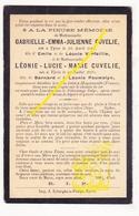 DP Im. Mort. 2p Déraillement De Moyenneville FR 1902 Pèlerinage à Lourdes / G & L Cuvelie ° Ieper / Verfaillie Pauwelyn - Images Religieuses