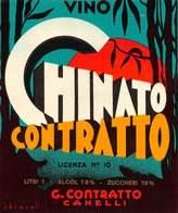 """07774 """"CHINATO CONTRATTO - G. CONTRATTO - CANELLI"""" ETICH. ORIG. - Etichette"""