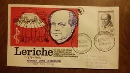 Premier Jour  FDC..   LERICHE ... 1958 .. ROANNE ..  Chirurgien - FDC