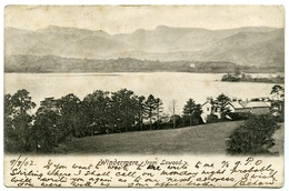 LAKE DISTRICT : WINDERMERE FROM LOWOOD / POSTMARK - PENRITH (DUPLEX) / ADDRESS - TIMPERLEY, NEWSTEAD - Cumberland/ Westmorland