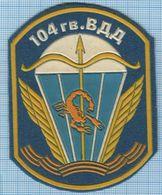 RUSSIA / Patch Abzeichen Parche Ecusson / Airborne Assault. Special Forces. Scorpio 104 Division Parachute 1990s - Ecussons Tissu