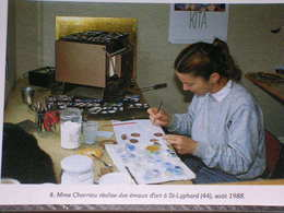 Mme. CHARRIAU REALISE DES EMAUX D'ART A ST-LYPHARD (44), AOÛT 1988 - 500 EX./ ETAT NEUF - Saint-Lyphard