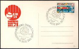 ITALIA BOLOGNA 1971 - CAMPIONATI EUROPEI BASEBALL 1971 - CARTOLINA UFFICIALE - Baseball