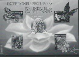 Belgique:BF Noir & Blanc 2019 (Pollinisateurs Exceptionnels) - Blocs 1962-....