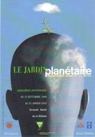 """Carte Postale """"Cart'Com"""" (1999) - Le Jardin Planétaire - Grande Halle De La Villette - Expositions"""