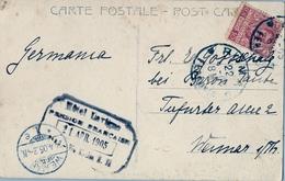 1905 , ITALIA , TARJETA POSTAL CIRCULADA , ROMA - WEIMAR , LLEGADA , BASILICA DE SAN PAOLO - 1900-44 Victor Emmanuel III