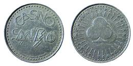 00874 GETTONE TOKEN JETON GAMING CASINO SAN REMO 1986 SERIE SEMI PICCHE - Casino