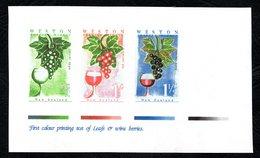 New Zealand Wine Post Leafs & Wine Berries Print Trial. - Unclassified